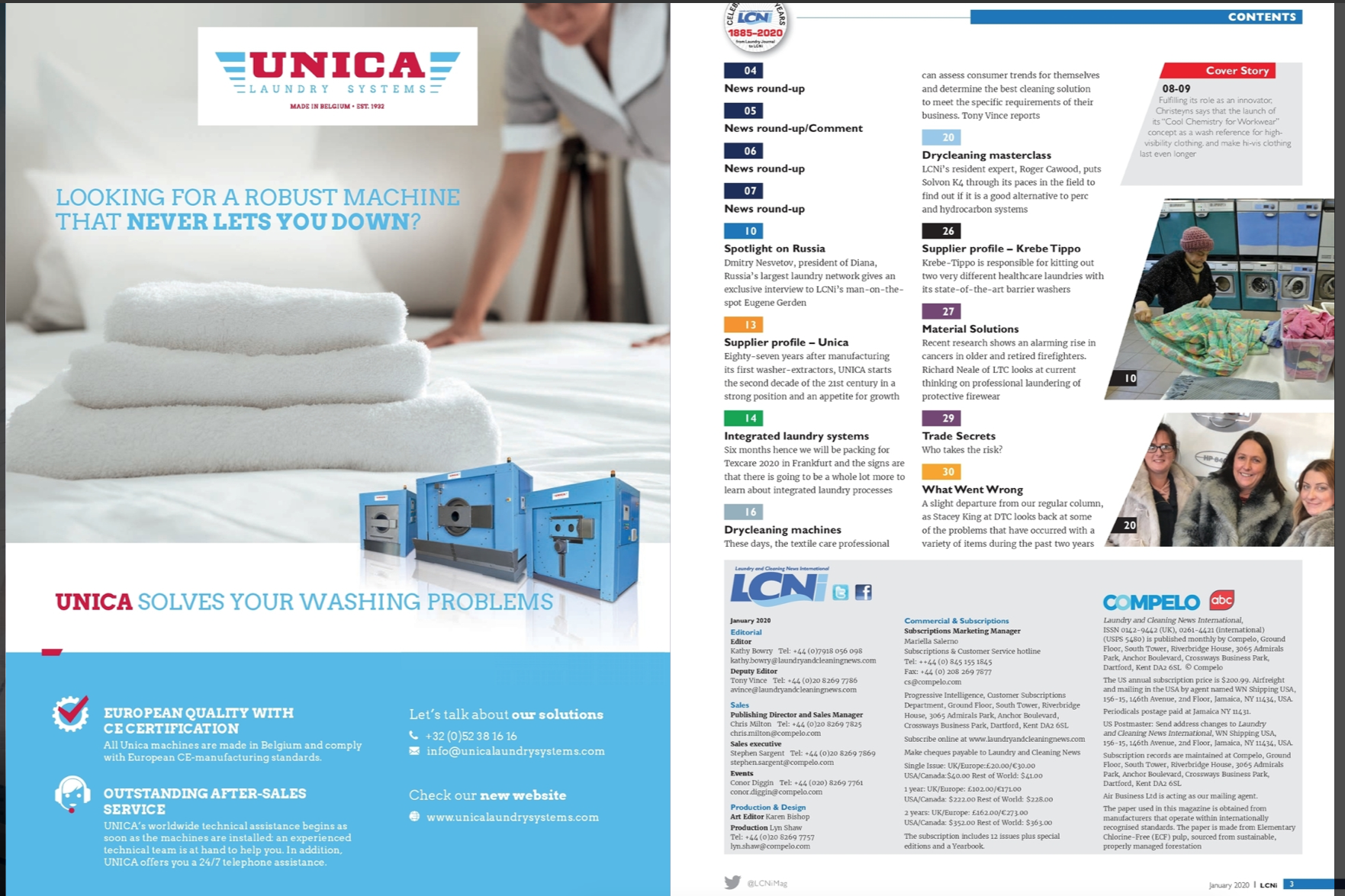unica solves your washing problems